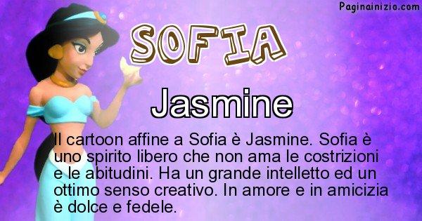 Sofia - Personaggio dei cartoni associato a Sofia