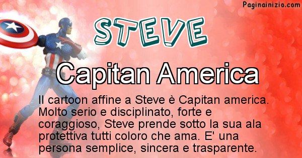 Steve - Personaggio dei cartoni associato a Steve