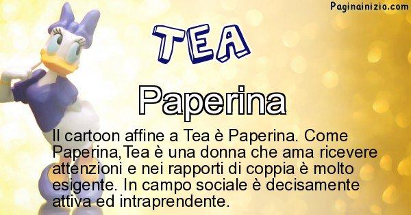 Tea - Personaggio dei cartoni associato a Tea