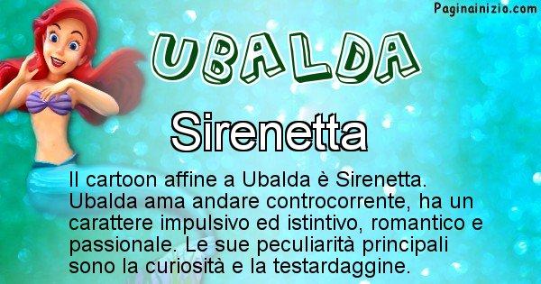 Ubalda - Personaggio dei cartoni associato a Ubalda