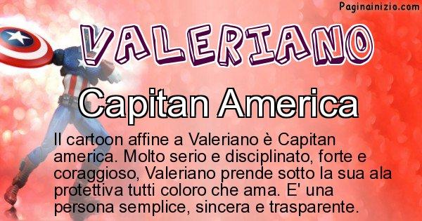 Valeriano - Personaggio dei cartoni associato a Valeriano