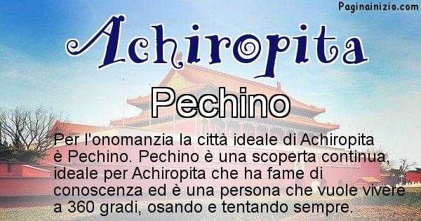 Achiropita - Città ideale per Achiropita