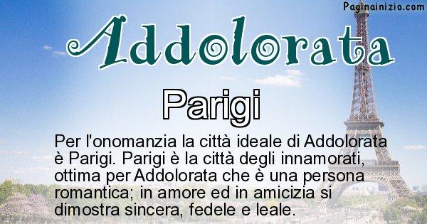 Addolorata - Città ideale per Addolorata