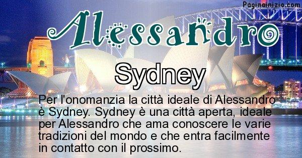 Alessandro - Città ideale per Alessandro