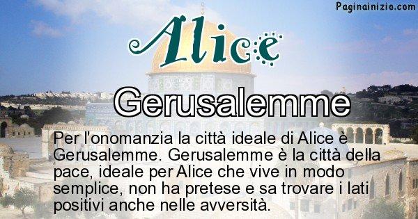 Alice - Città ideale per Alice