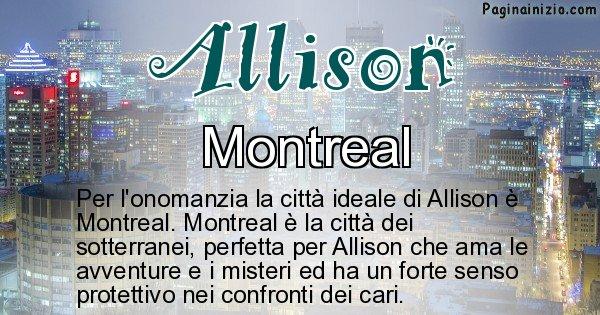 Allison - Città ideale per Allison