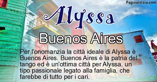Alyssa - Città ideale per Alyssa