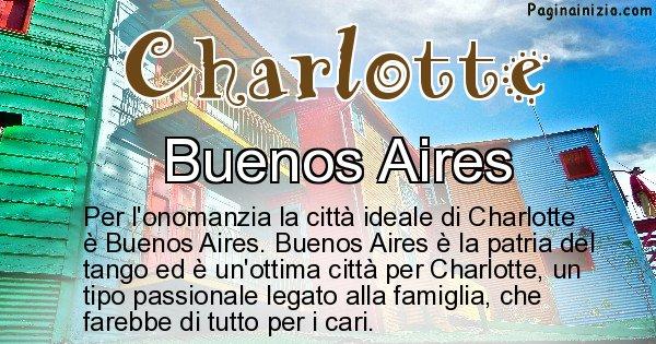 Charlotte - Città ideale per Charlotte