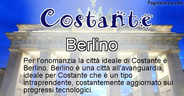 Costante - Città ideale per Costante