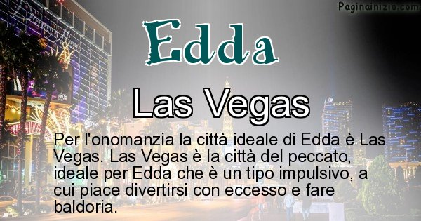 Edda - Città ideale per Edda