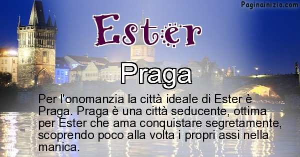 Ester - Città ideale per Ester