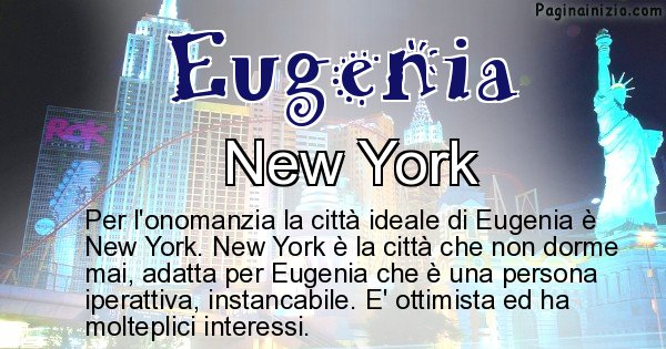 Eugenia - Città ideale per Eugenia