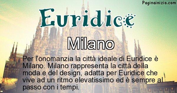 Euridice - Città ideale per Euridice
