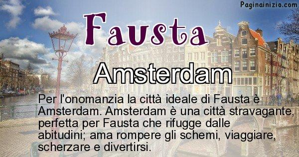 Fausta - Città ideale per Fausta