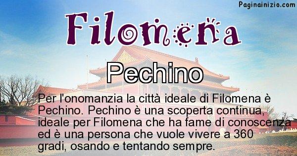 Filomena - Città ideale per Filomena
