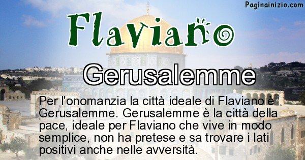 Flaviano - Città ideale per Flaviano