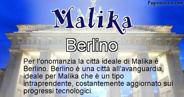 Malika - Città ideale per Malika