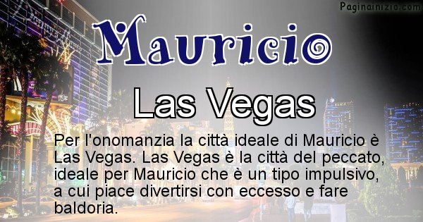 Mauricio - Città ideale per Mauricio