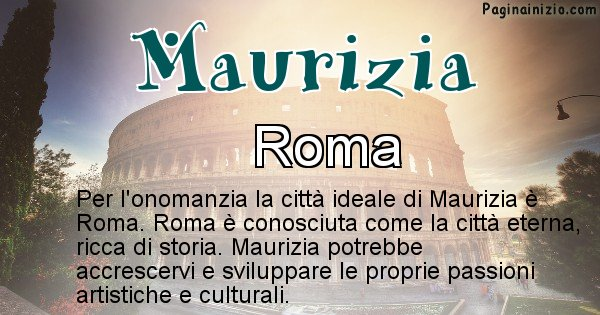Maurizia - Città ideale per Maurizia
