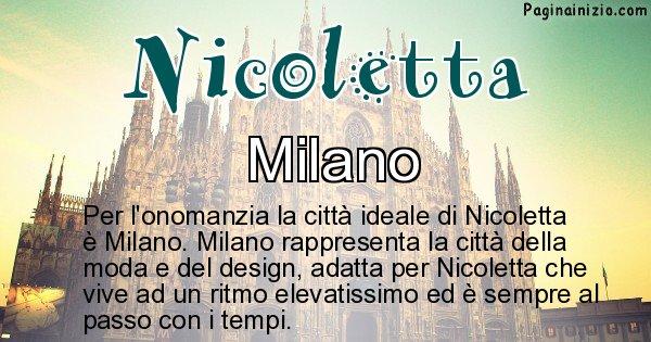 Nicoletta - Città ideale per Nicoletta
