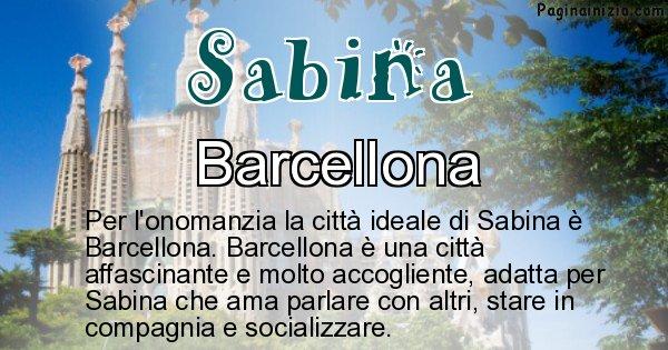Sabina - Città ideale per Sabina
