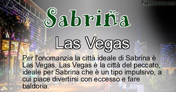 Sabrina - Città ideale per Sabrina