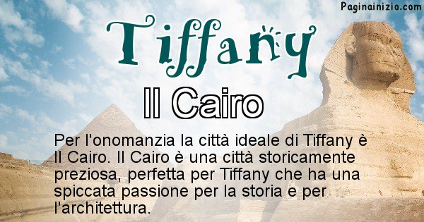 Tiffany - Città ideale per Tiffany