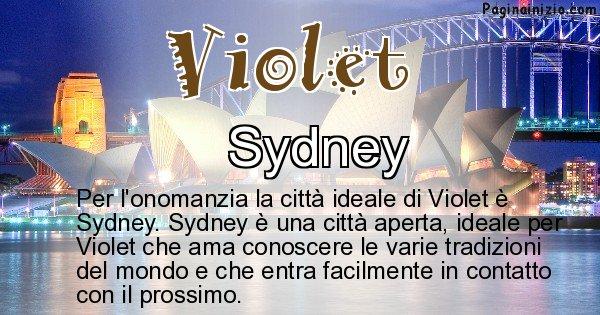 Violet - Città ideale per Violet