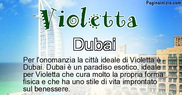 Violetta - Città ideale per Violetta