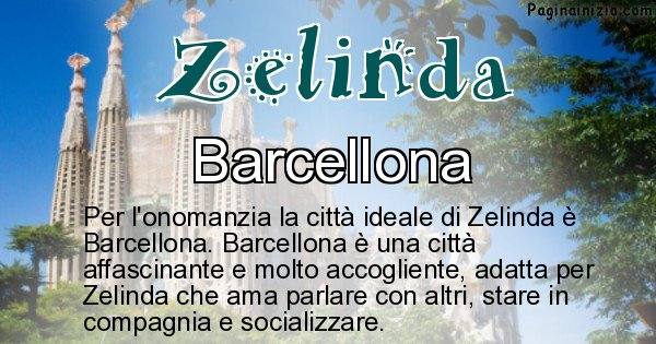 Zelinda - Città ideale per Zelinda