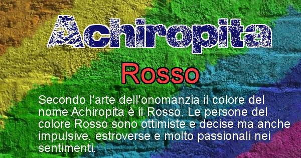 Achiropita - Colore corrispondente al nome Achiropita