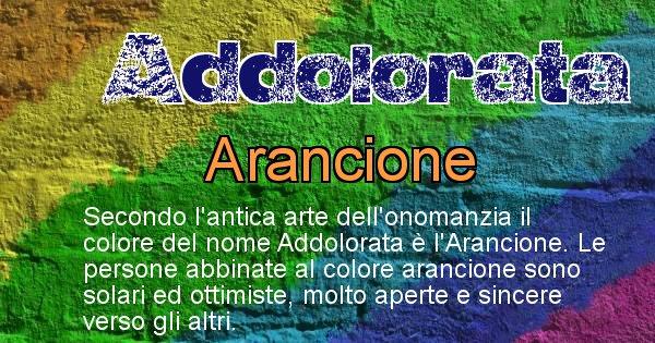 Addolorata - Colore corrispondente al nome Addolorata
