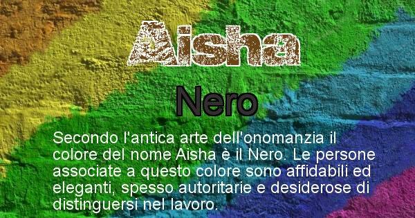 Aisha - Colore corrispondente al nome Aisha