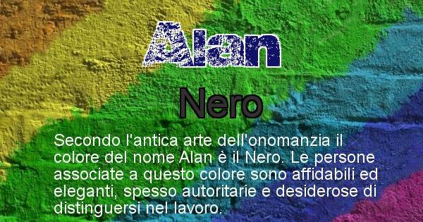 Alan - Colore corrispondente al nome Alan