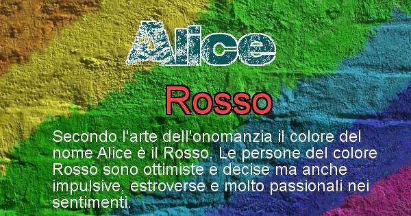Alice - Colore corrispondente al nome Alice