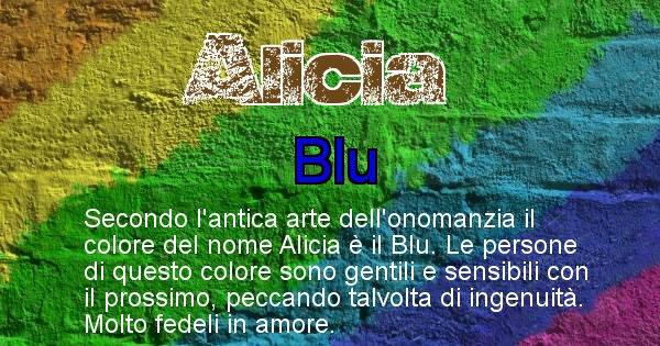 Alicia - Colore corrispondente al nome Alicia