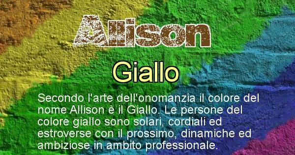 Allison - Colore corrispondente al nome Allison