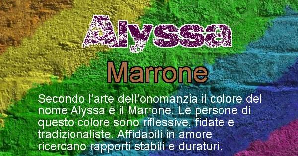 Alyssa - Colore corrispondente al nome Alyssa