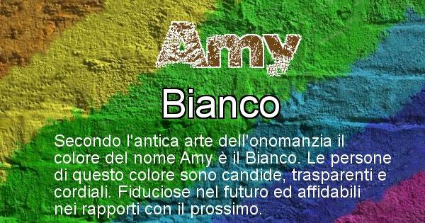 Amy - Colore corrispondente al nome Amy