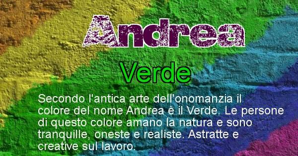 Andrea - Colore corrispondente al nome Andrea