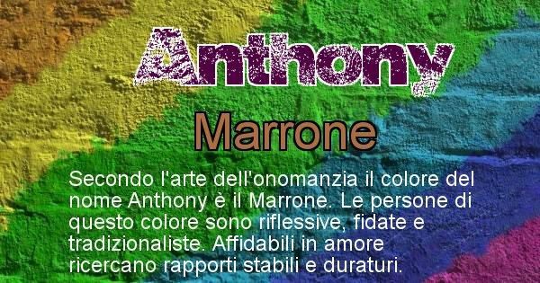 Anthony - Colore corrispondente al nome Anthony