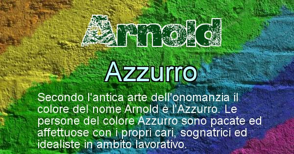 Arnold - Colore corrispondente al nome Arnold