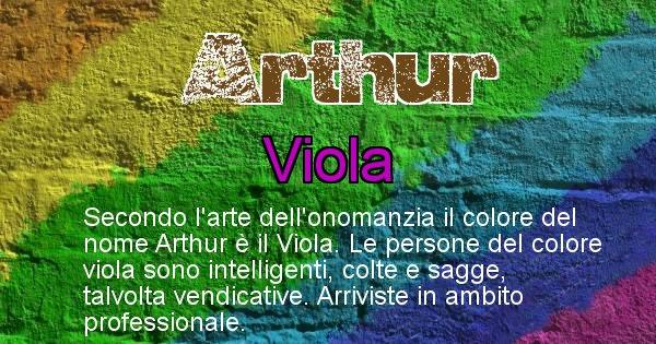Arthur - Colore corrispondente al nome Arthur