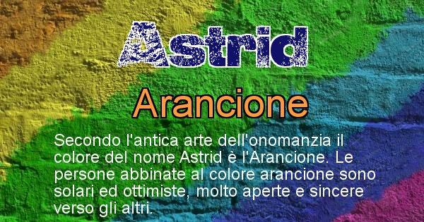 Astrid - Colore corrispondente al nome Astrid
