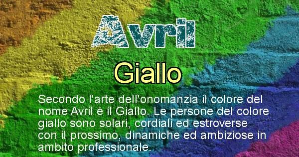 Avril - Colore corrispondente al nome Avril