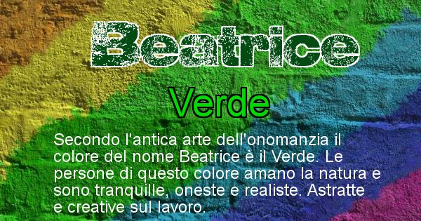 Beatrice - Colore corrispondente al nome Beatrice