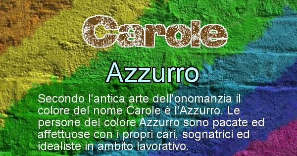 Carole - Colore corrispondente al nome Carole