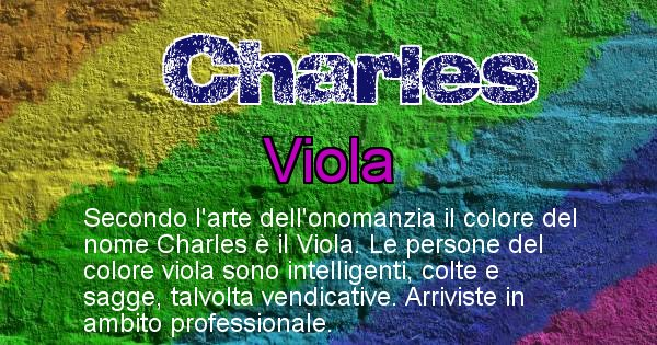 Charles - Colore corrispondente al nome Charles