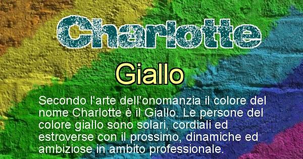 Charlotte - Colore corrispondente al nome Charlotte