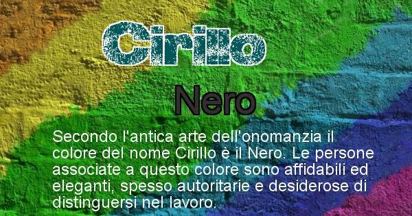 Cirillo - Colore corrispondente al nome Cirillo